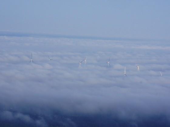 Windräder in der Nähe UL-Landepltz Crussow ( Uckermark )