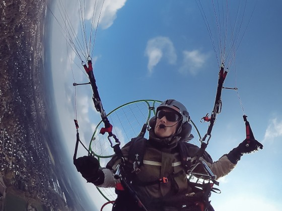 Paramotor with G-Force